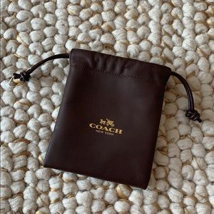 COACH Brown Leather Storage Pouch
